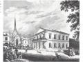 1838 neues Postgebäude ohne Hotel Baur