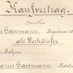 Kaufvertrag 1911