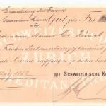 Einzahlung Gesellschaftskapital ab 2. März 1882