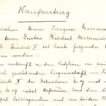 Verkaufvertrag 1898